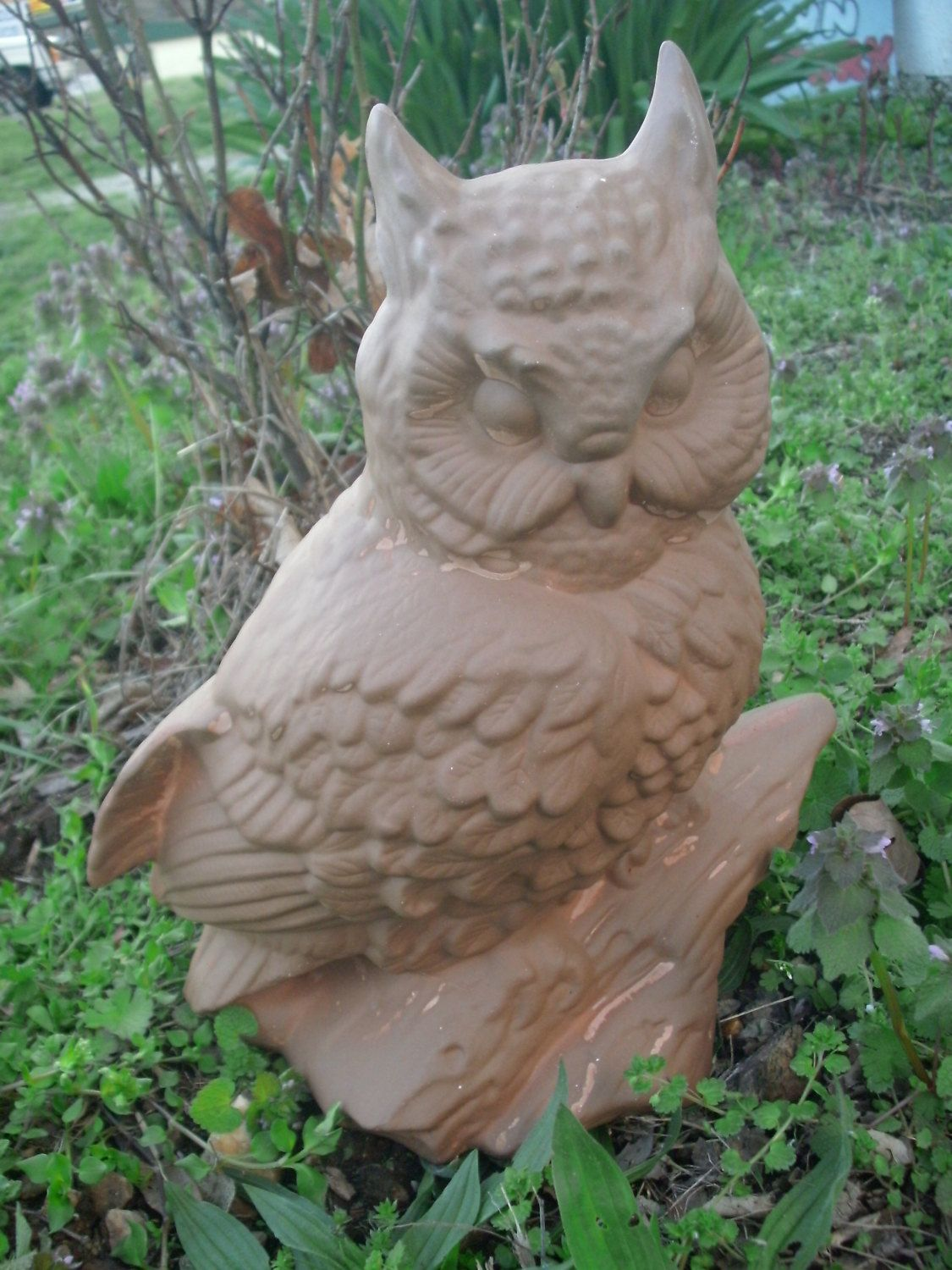 Ceramic Owl Stoneware Owl Garden Statue Owl Decor MADE TO ORDER Garden  Decor Outdoor Owl Statue Gifts For Him Gifts For Her Patio Decor Owl By ...