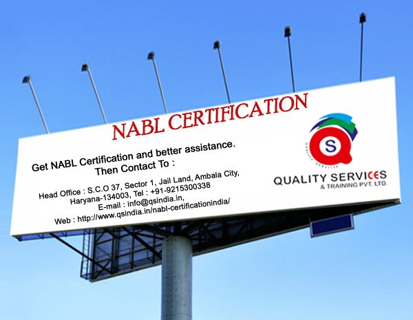 Get Nabl Certifications India, Contact to Quality Services & Training Pvt. Ltd.   For more information: Contact on below addresses: Phone Number: 91-92169-29001 Email Id: info@qsindia.in  Website: http://www.qsindia.in/nabl-certificationindia  S.C.O. 37, Sector-1, Jail Land, Ambala City – 134 003 Haryana  https://twitter.com/Qualityservic11  https://www.facebook.com/isocompanyindia?ref=hl