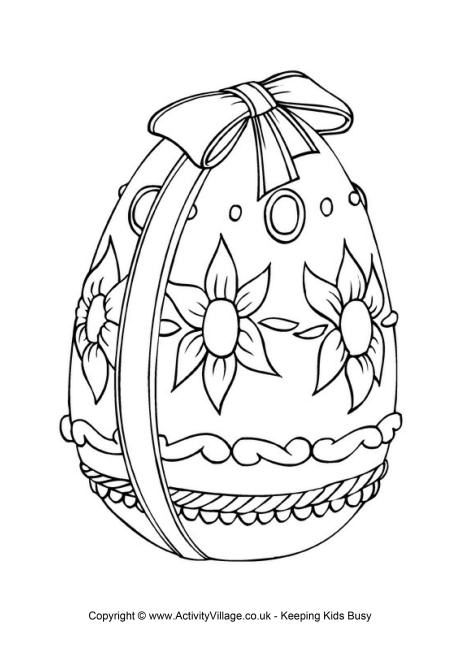 Easter Egg Colouring Page 2