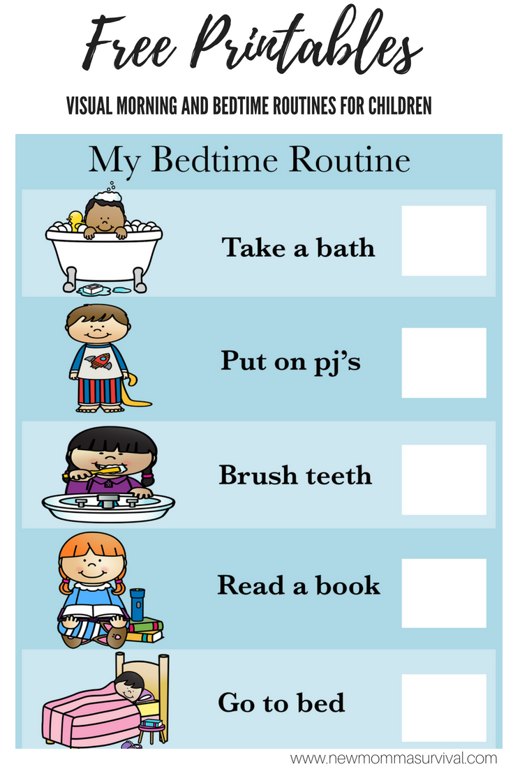 Morning routine chart for children toddlers kids Autism ADHD Visual Pictures