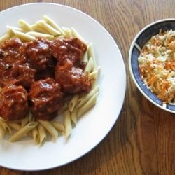 Healthy Meatballs With Pasta recipe