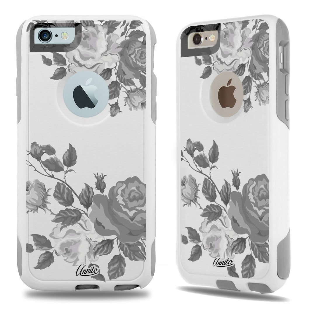 iPhone 6 Case White Hybrid Victorian Flowers by Unnito