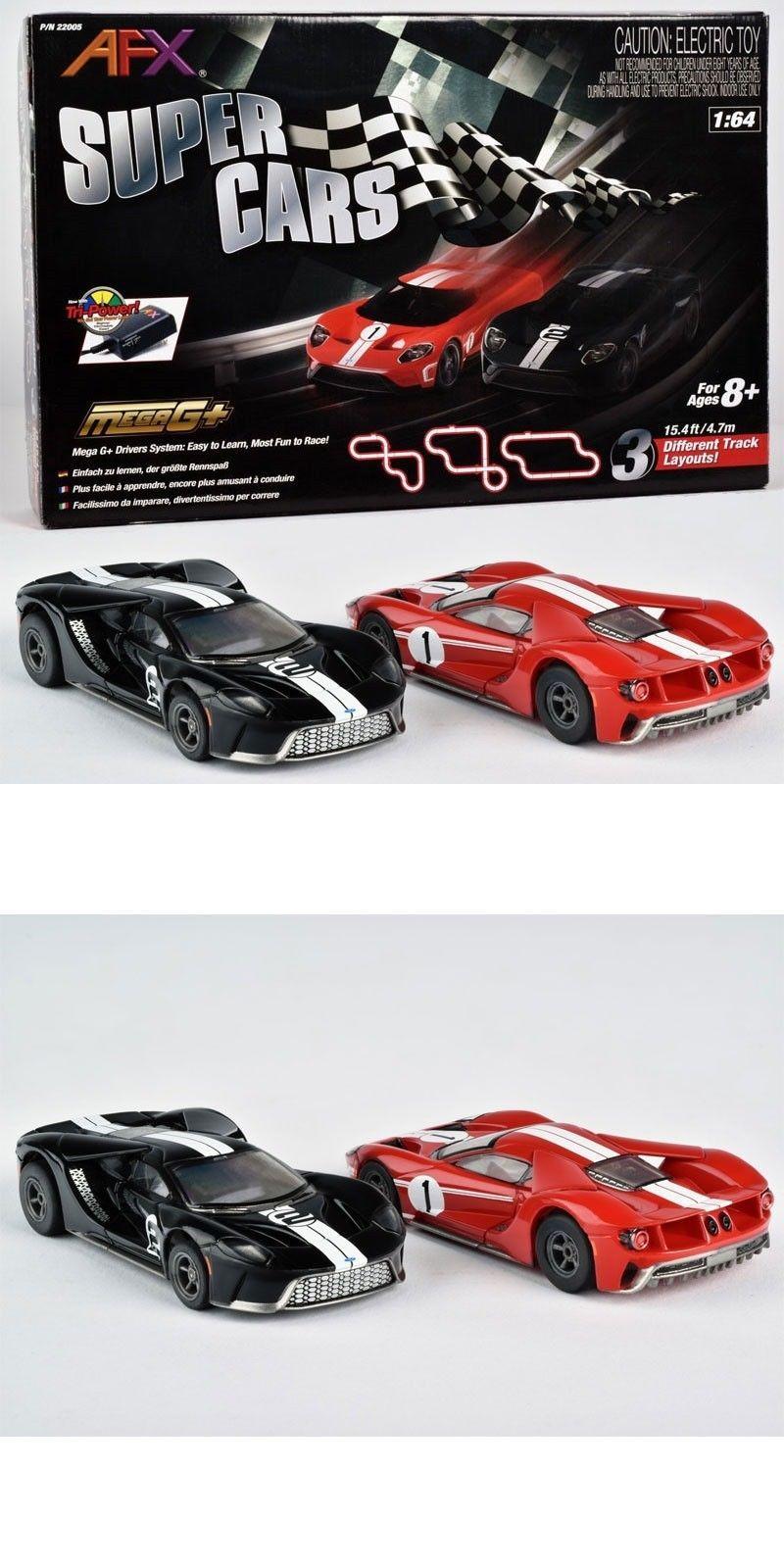 New Afx 22005 Super Cars Ford Gt Mega G Tri Power Ho Slot Car Track Set Free Sh Car Ford Ho Slot Cars Ford Gt
