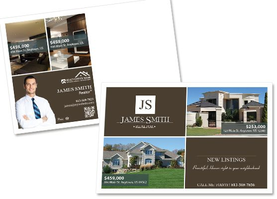 Real Estate Postcard Template In 2019