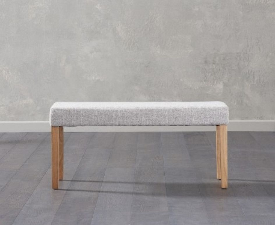 Super Mia Small Grey Bench Coffee Table Upholstered Bench Machost Co Dining Chair Design Ideas Machostcouk