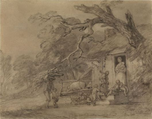 thomas gainsborough ra 1727 1788 a family outside a cottage door rh pinterest com Cottage Interior Doors Cottage Interior Doors