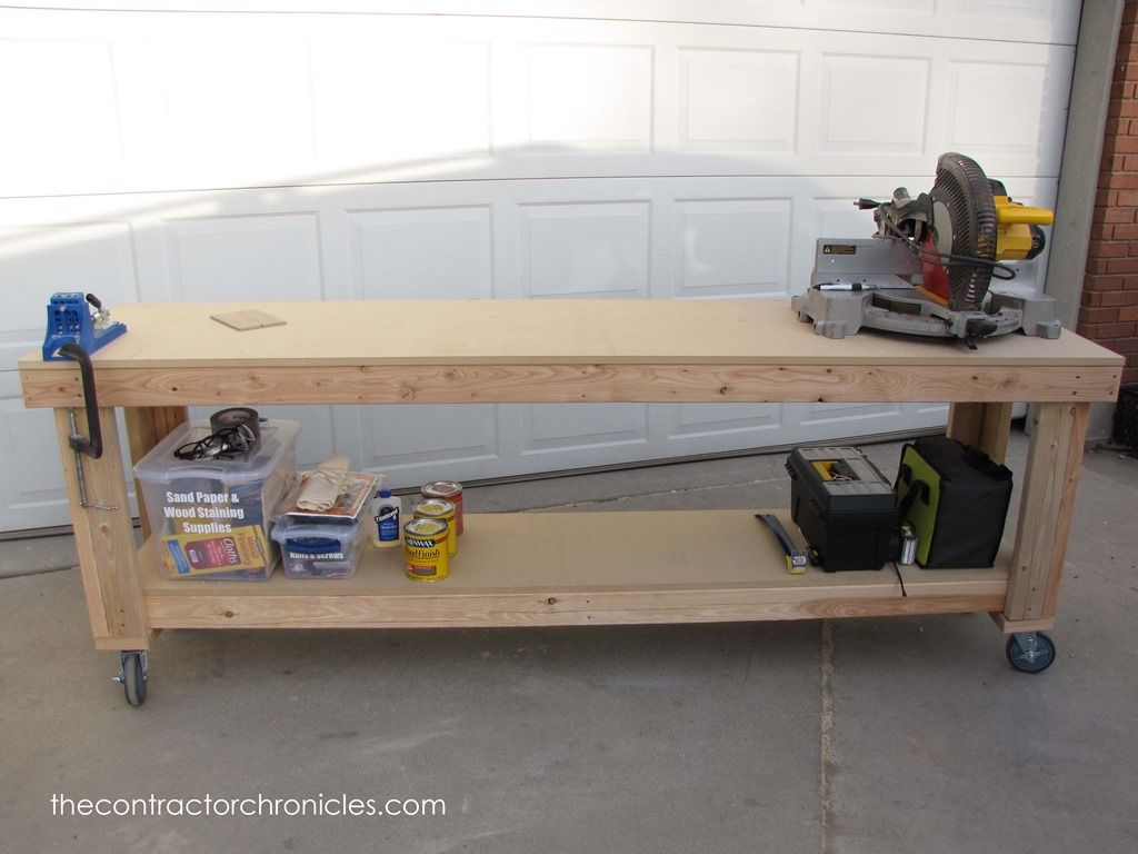 Diy Workbench With Wheels Diy Workbench On Wheels If You Are Looking For An Awesome