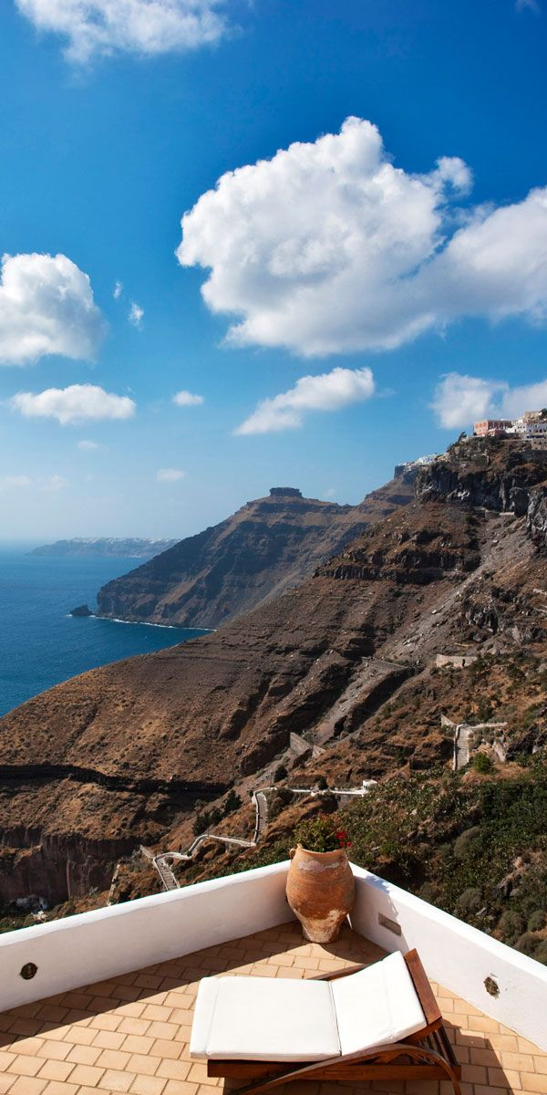 Caldera Cliffs, Fira, Santorini , Greece