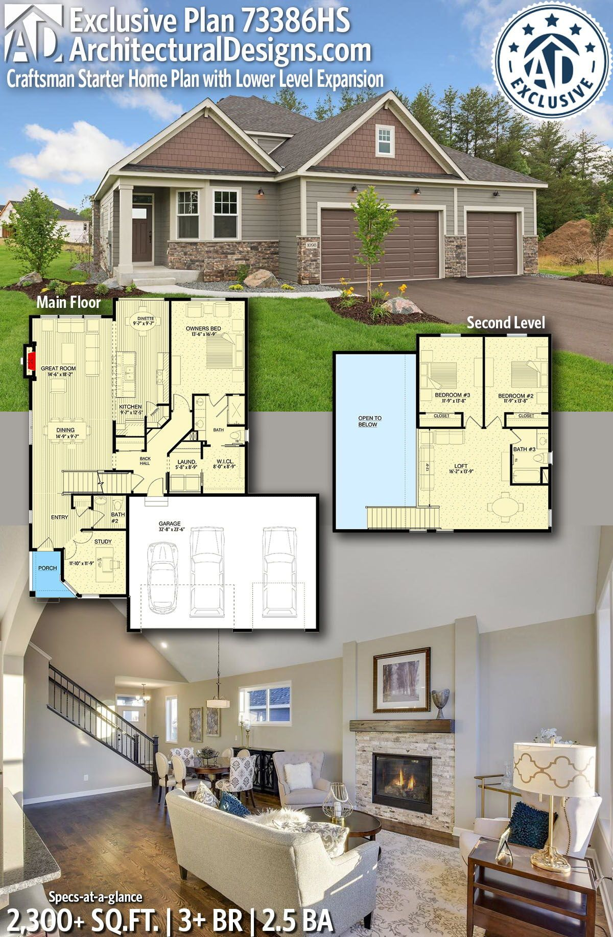 Architectural designs exclusive house plan hs gives you bedrooms baths and sq ft ready when are where do want to build also rh pinterest