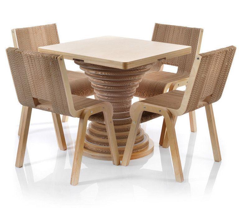 Tavolo in cartone clessidra 4 sedie less chair di - Mobili di cartone design ...