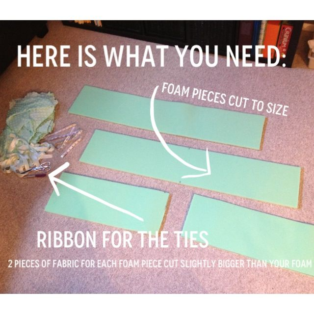 How to make your own crib bumper pads   Sewing tips.   Pinterest ...