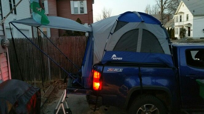 Testing my Chevy Colorado truck bed tent by Napier before c&ing season starts! & Testing my Chevy Colorado truck bed tent by Napier before camping ...