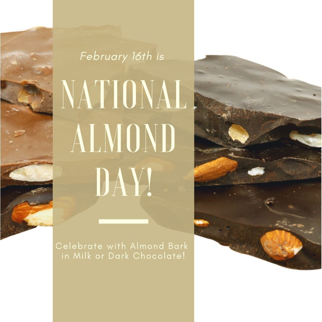 It S National Almond Day And We Re Here To Show Our Appreciation With Nut Bark This Tasty Treat Comes In Creamy Milk Dark Almond Bark Yummy Treats Chocolate