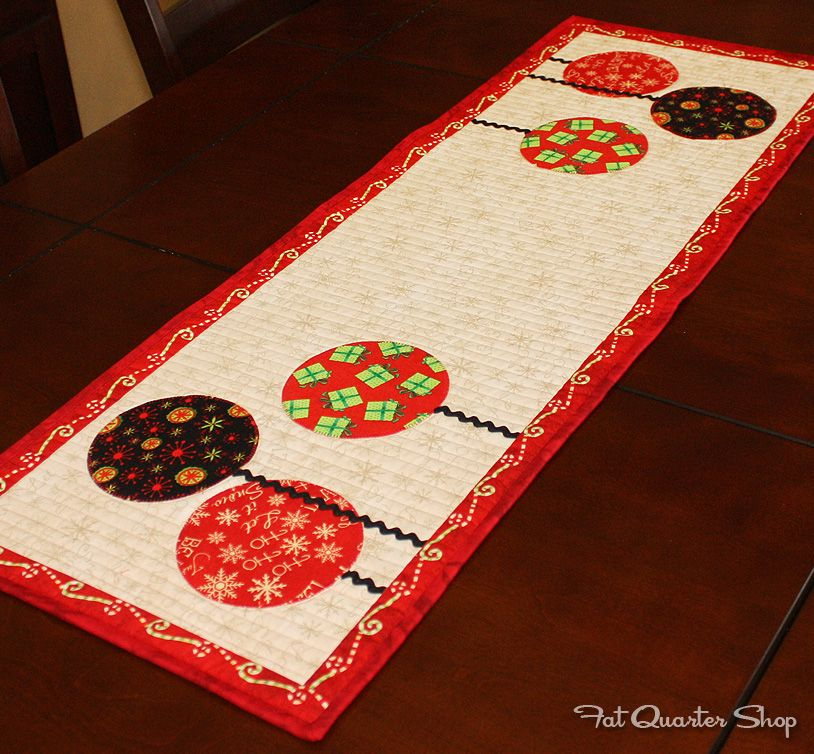 Gather Round Table Runner Kit A Playful Addition To A Festive Table Christmas Sewing Xmas Table Runners Holiday Sewing