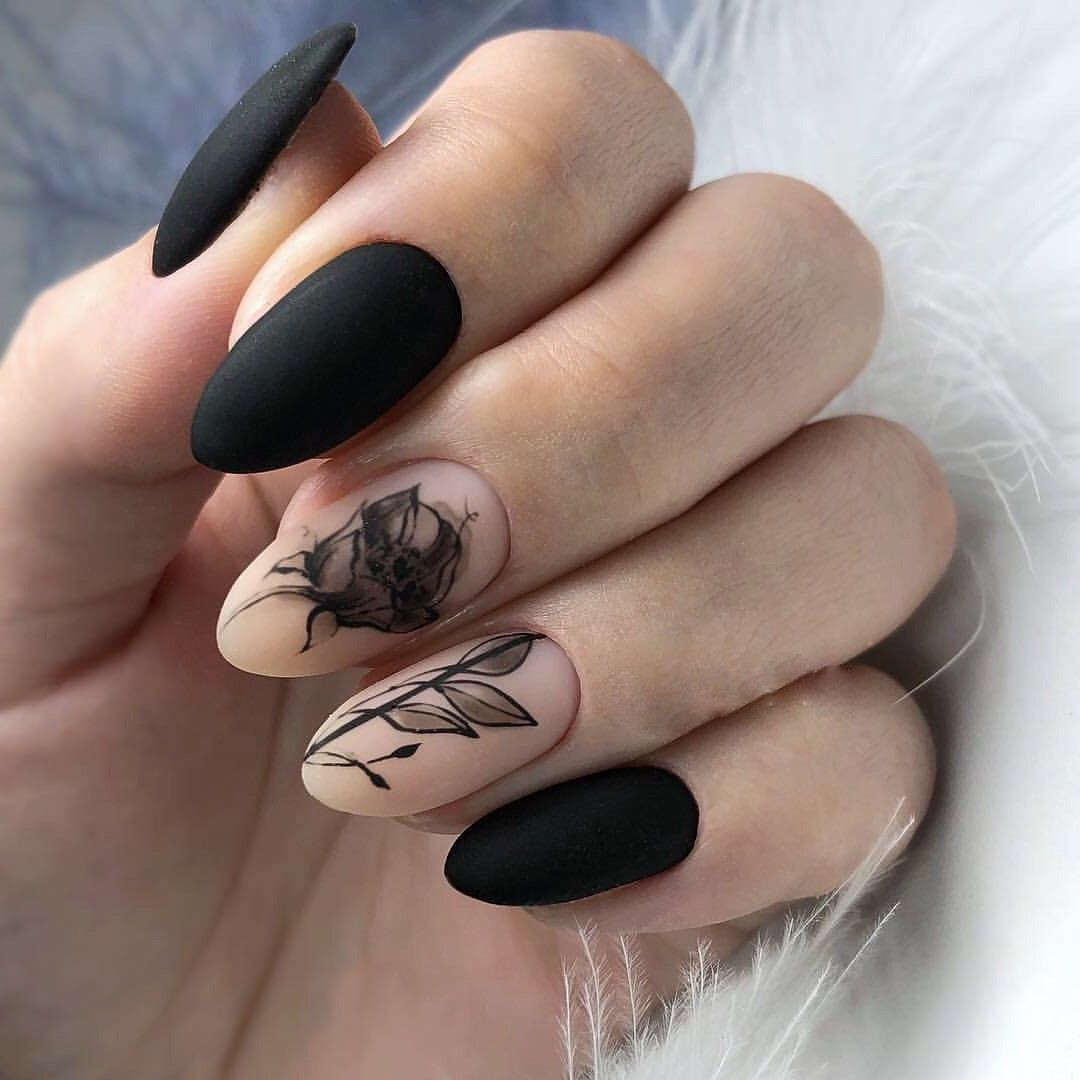 Pin By Ashley Cooke On Nails Gel Manicure Designs Grunge Nails Goth Nails