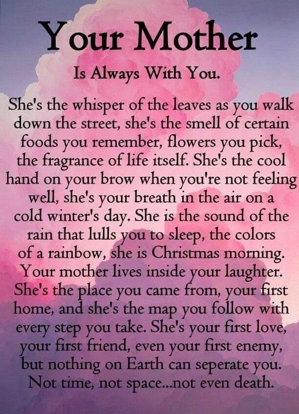 Losing My Mom To Cancer Quotes: Your Mother Is Always With You