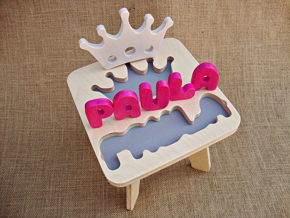 Name puzzle stool wood name stool personalized gifts for kids gift name puzzle stool wood name stool personalized gifts for kids gift for baby gift birthday for child gift idea for baby negle Image collections