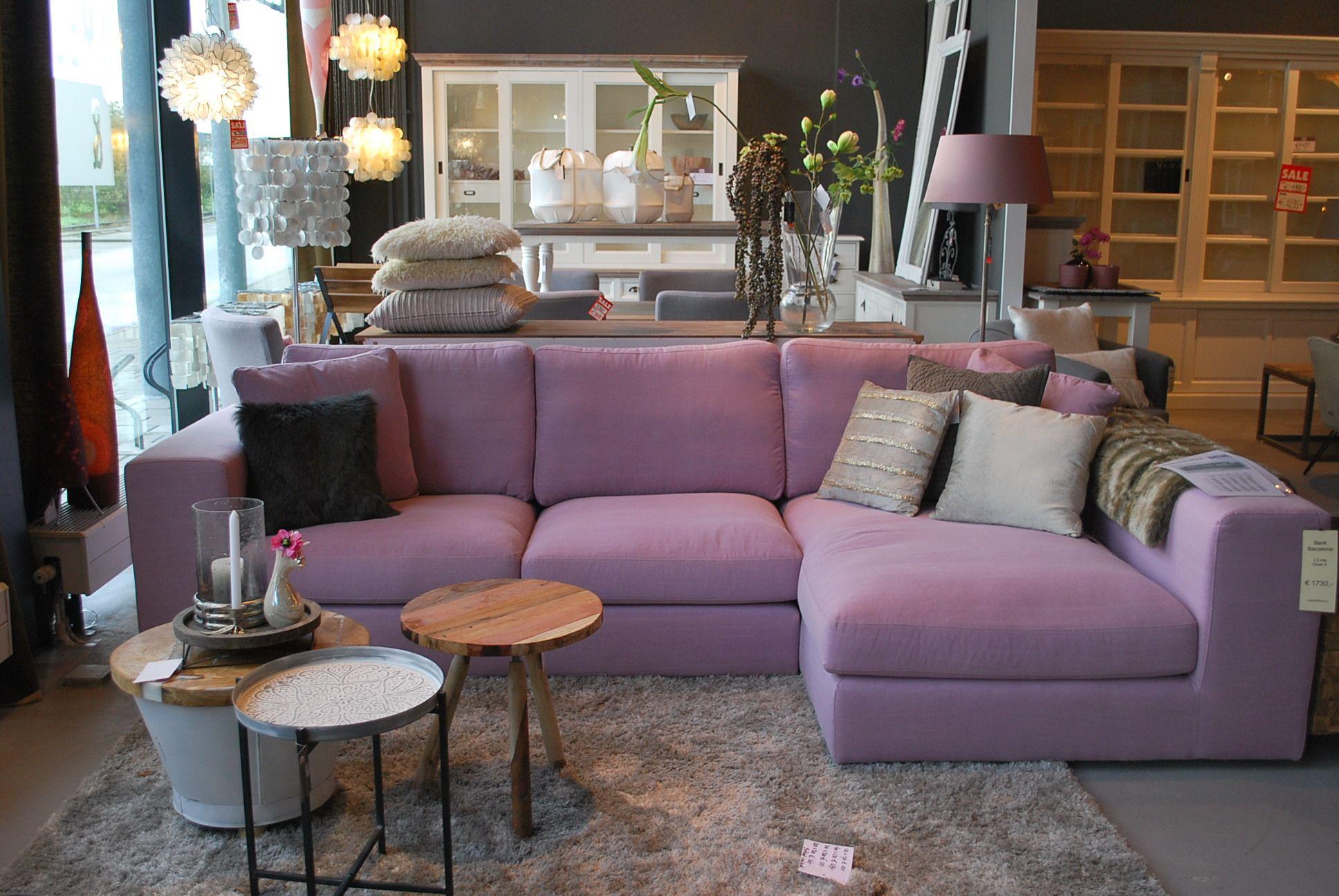 Paarse Decoratie Woonkamer : Barcelona bank paarse bank bijzettafeltjes en luxe