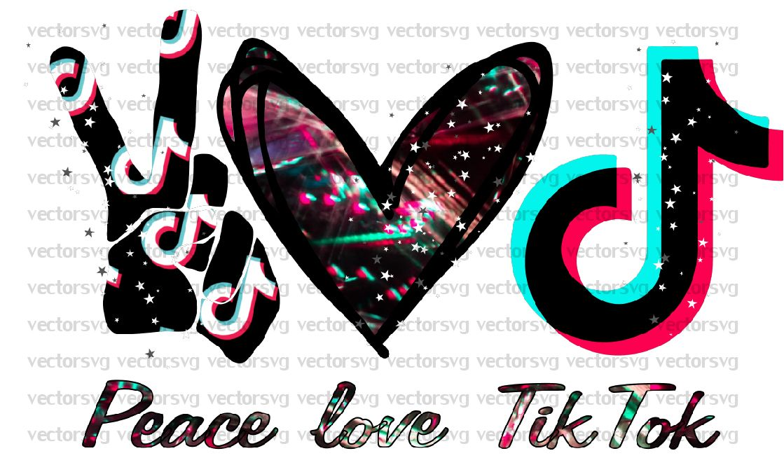 Peace Love Music Png Peace Love Tiktok Png Peace Love Design Png Tik Tok Design Png Music Love Peace And Love Love Design Emoji Clipart