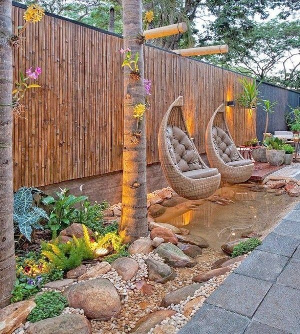 Image Result For Bamboo Patio Fence