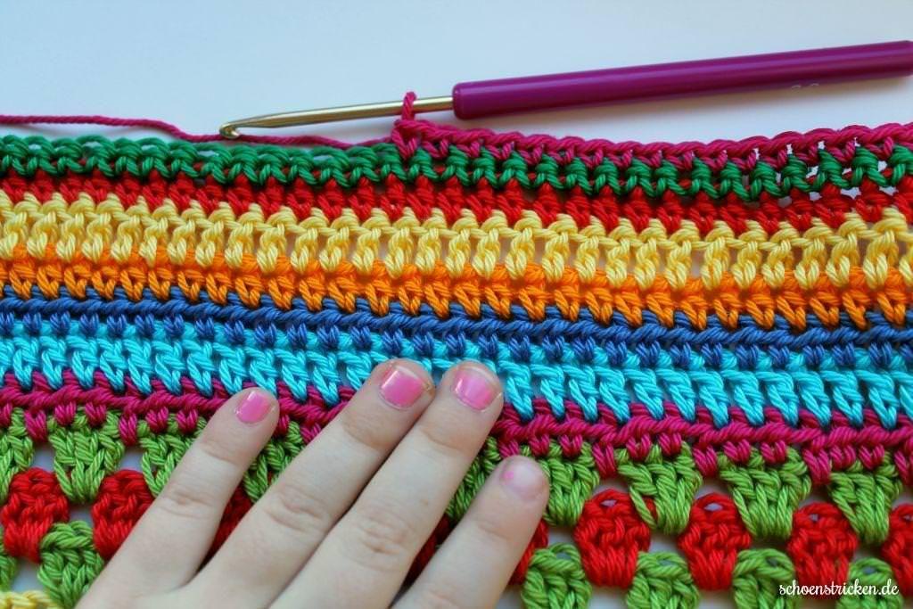Crochet Along Babydecke Teil 11 | Häkeldecke, Stiche und Decken