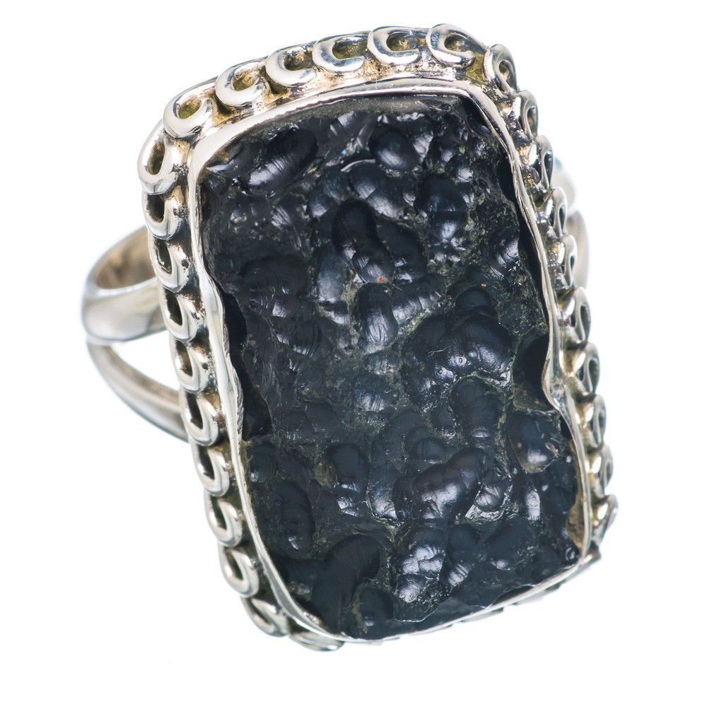 Tektite sterling silver ring size ring products