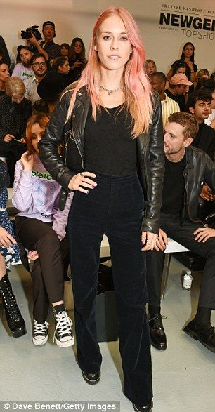 Suave: Lady Mary Charteris kept things sleek in all black...
