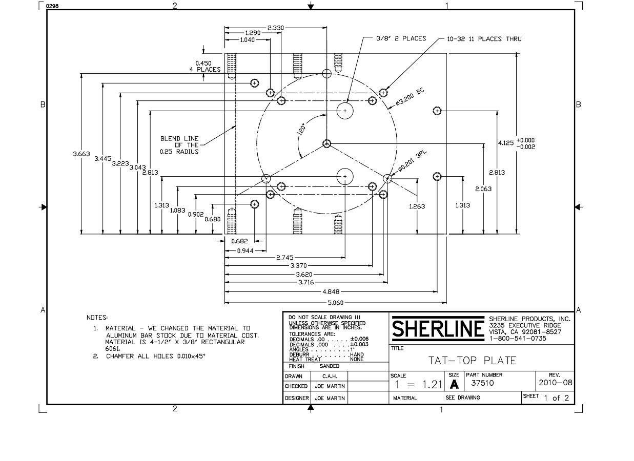 Sherline Tilting Angle Table