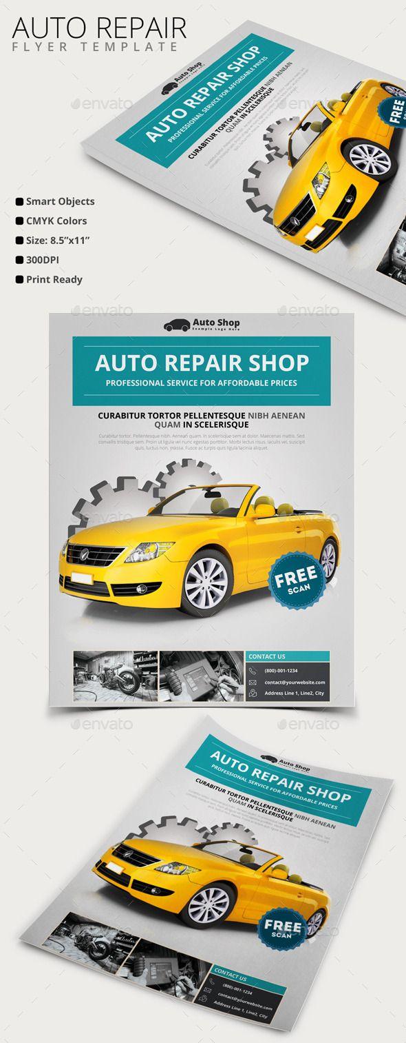8 5x11 poster design - Auto Repair Flyer
