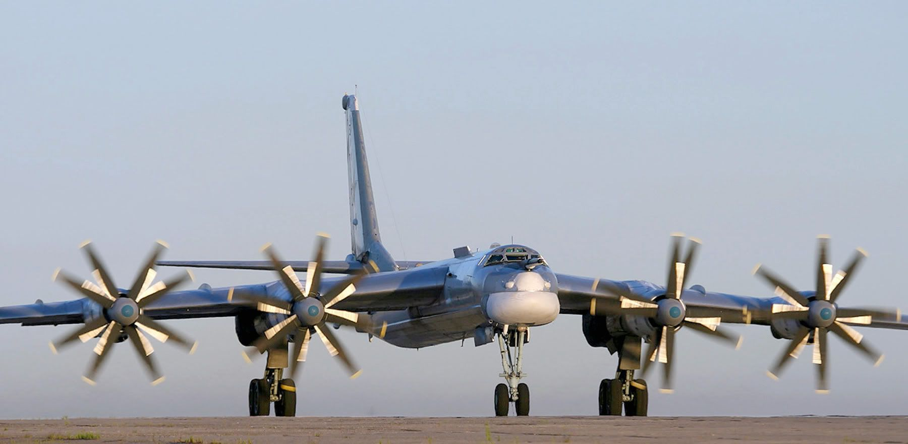 Tupolev Tu 95 Bear Big Honking Russian Bomber Comparable To The B