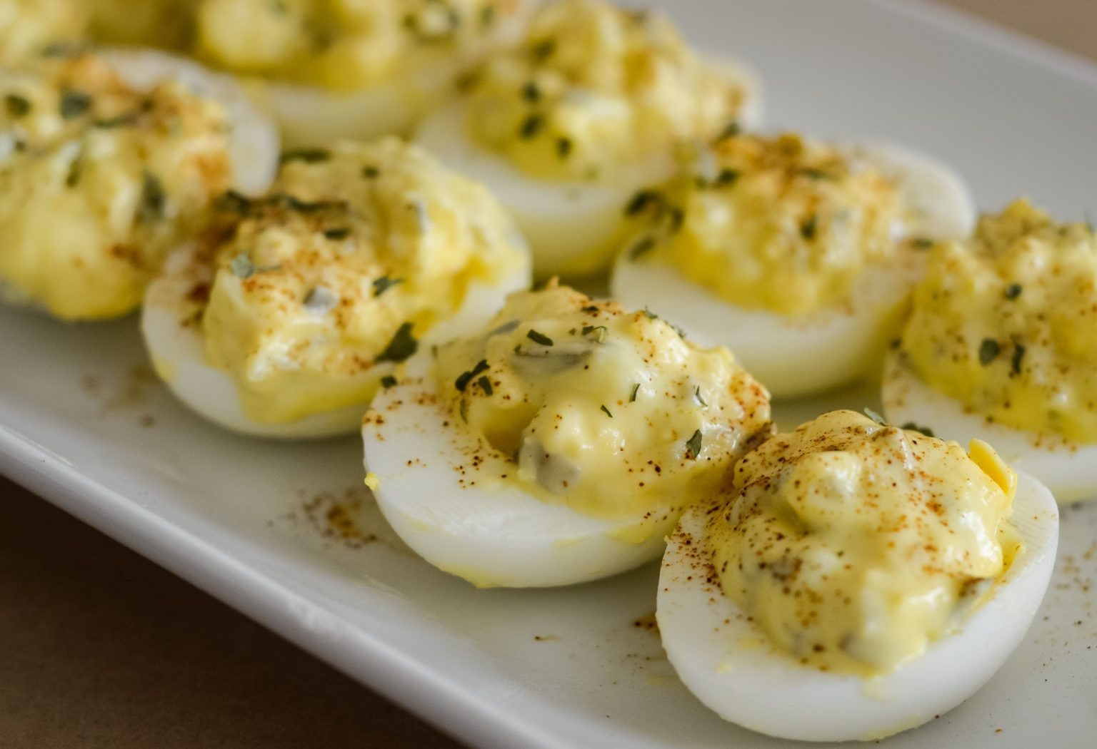 Deviled Eggs with Ninja Foodi Hard-Boiled Eggs - Mommy Hates Cooking