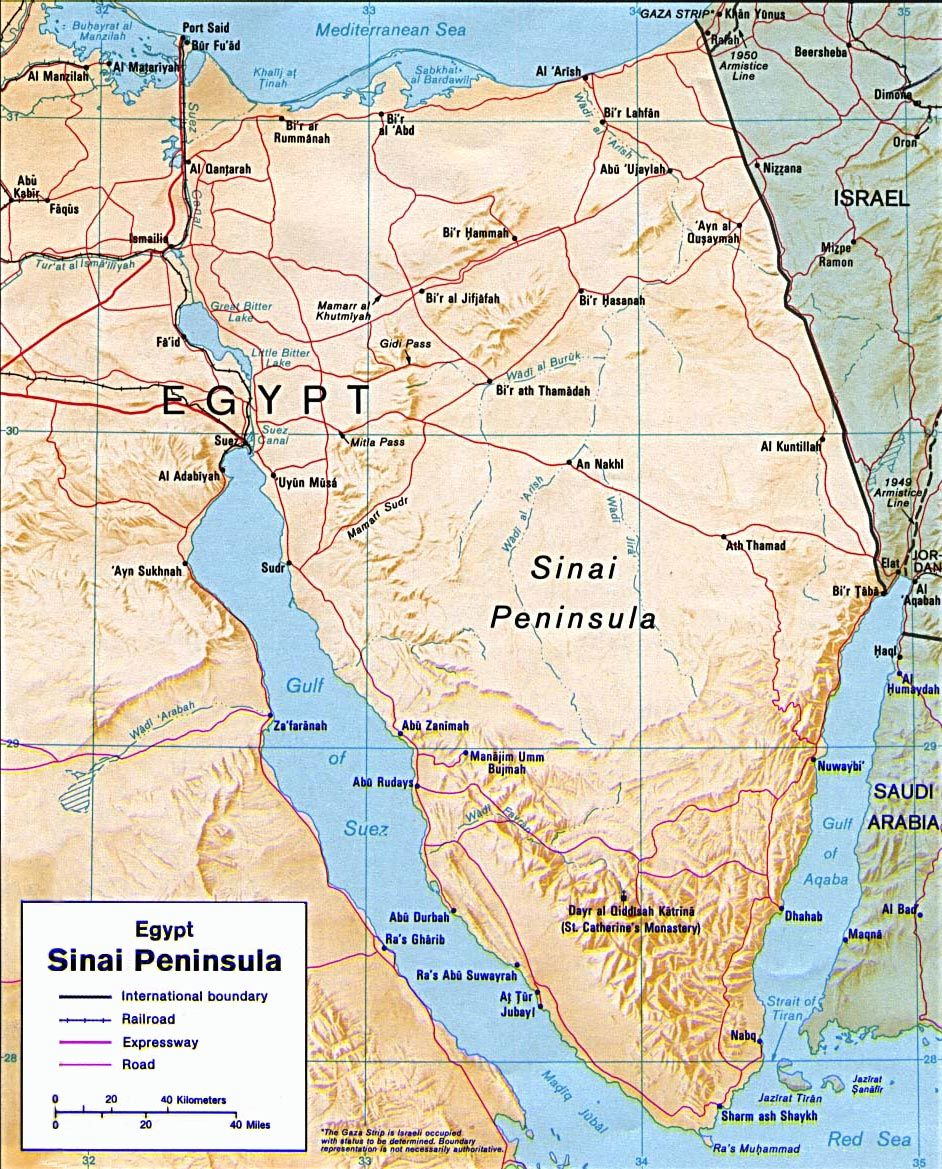 Sinai Peninsula Map Geopolitics Geoeconomics GeoAnalytics