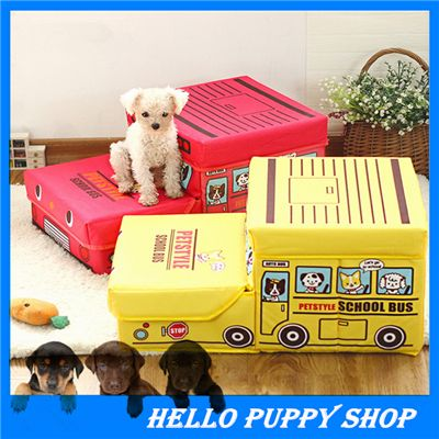 Cheap Buy Directly From China Pet Furniture Cute Cartoon School Bus Pet  Stairs Folded Storage Box Folding Stairs Dog Stairs
