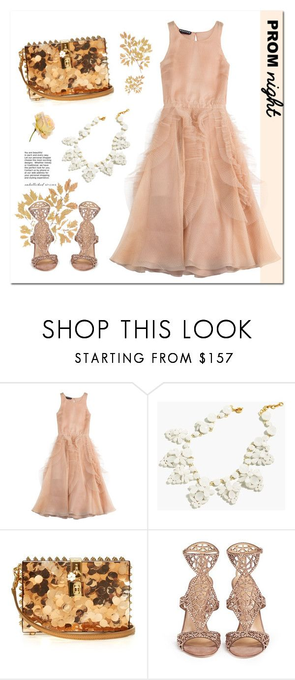 """""""Just peachy"""" by minorseventh ❤ liked on Polyvore featuring Rochas, J.Crew, Dolce&Gabbana and Sergio Rossi"""