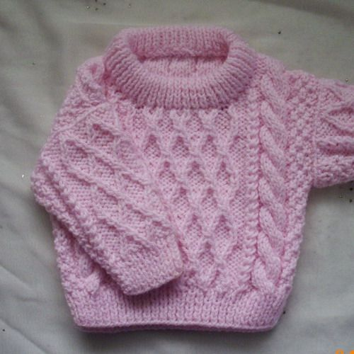 Baby Jumper Knitting Pattern Free : Treabhair - PDF knitting pattern for baby or toddler cable sweater Knitting...