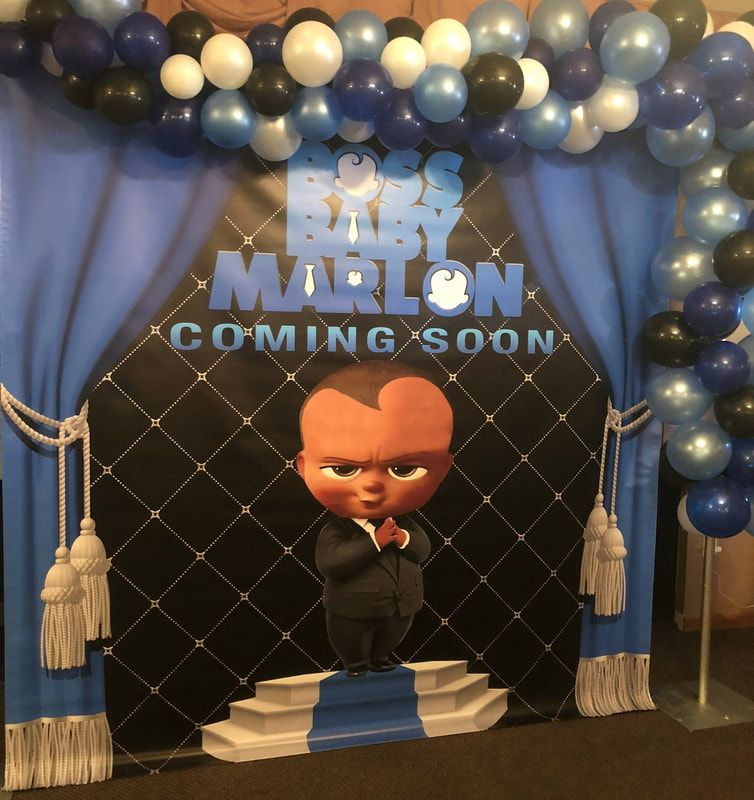 Boss Baby Shower Decorations Boss Baby Backdrop Boss Baby
