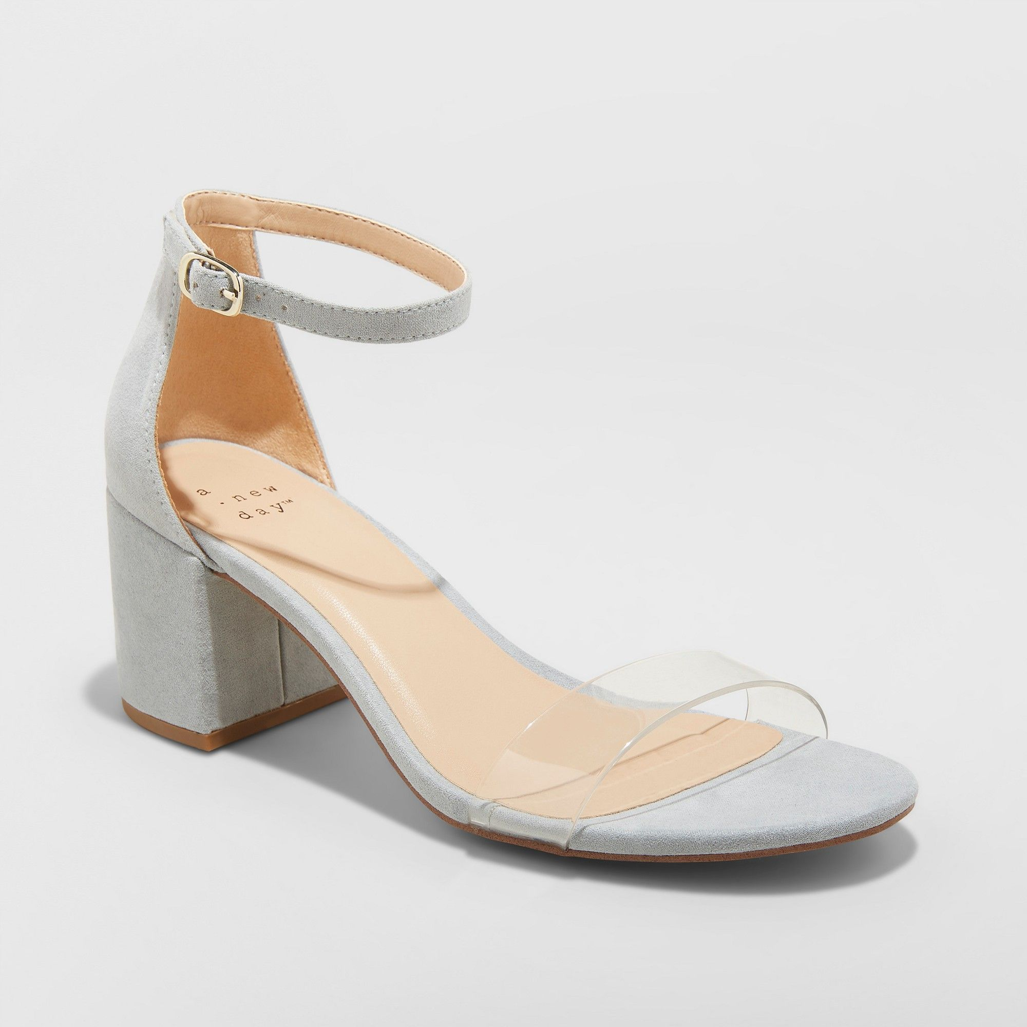 81dc90a72a Women s Michaela Lucite Mid Block Heel Pumps - A New Day Blue 6.5 in ...