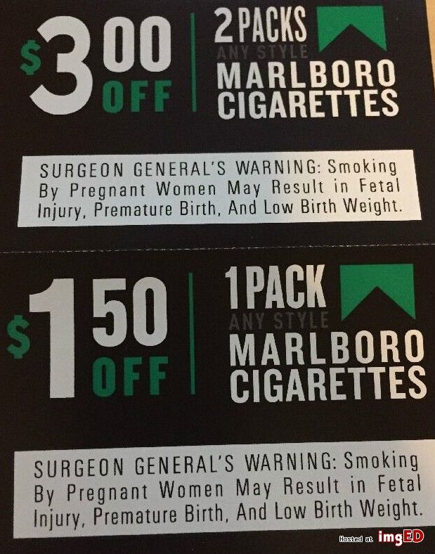 This is a photo of Current Marlboro Printable Coupons 2020