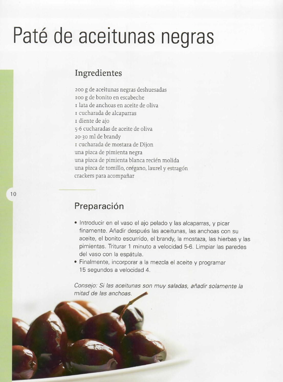 Tapas Y Pintxos Themomix Pate De Aceitunas Recetas Thermomix Recetas
