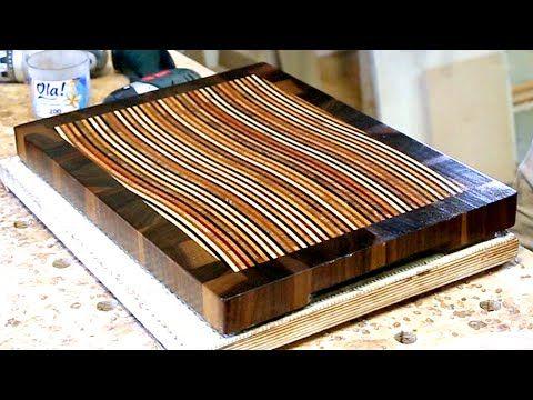Haciendo una tabla de corte de madera en 3D #10 - YouTube