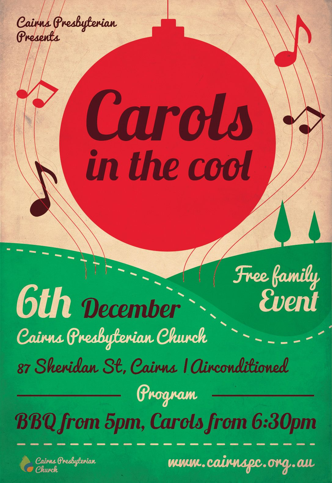 Invitation Template Christmas Party Carols Service Ad (used A Template) | Templates