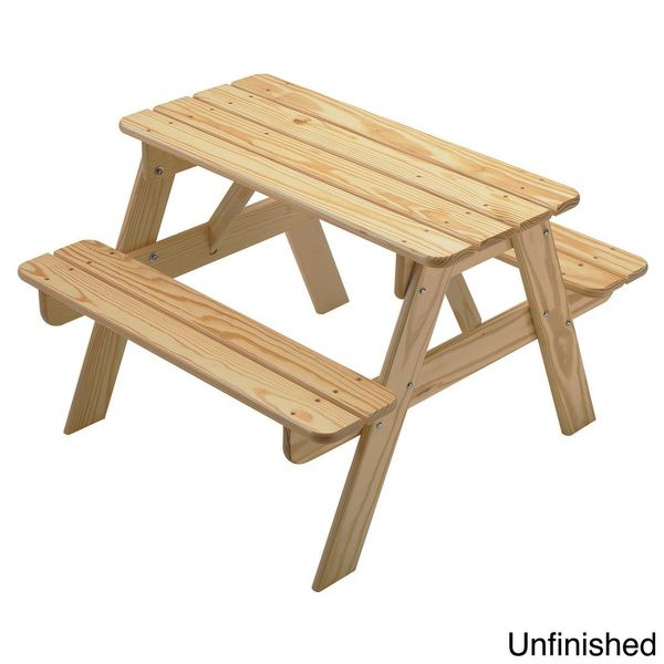 Little Colorado Child S Wooden Picnic Table White