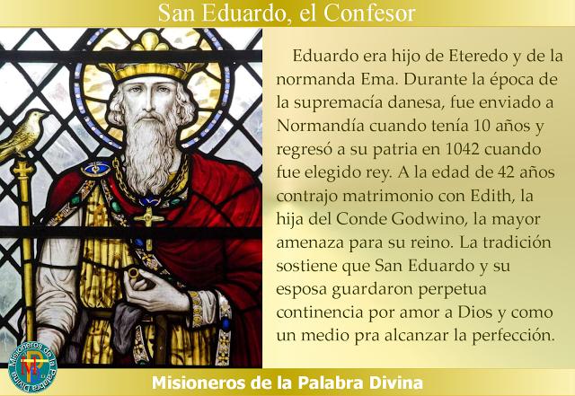 MISIONEROS DE LA PALABRA DIVINA: SANTORAL - SAN EDUARDO, EL CONFESOR