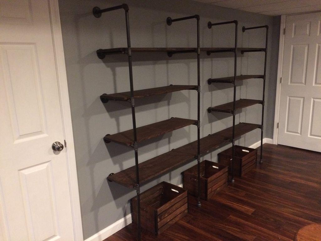 Homemade modern diy pipe shelves home pinterest pipes diy