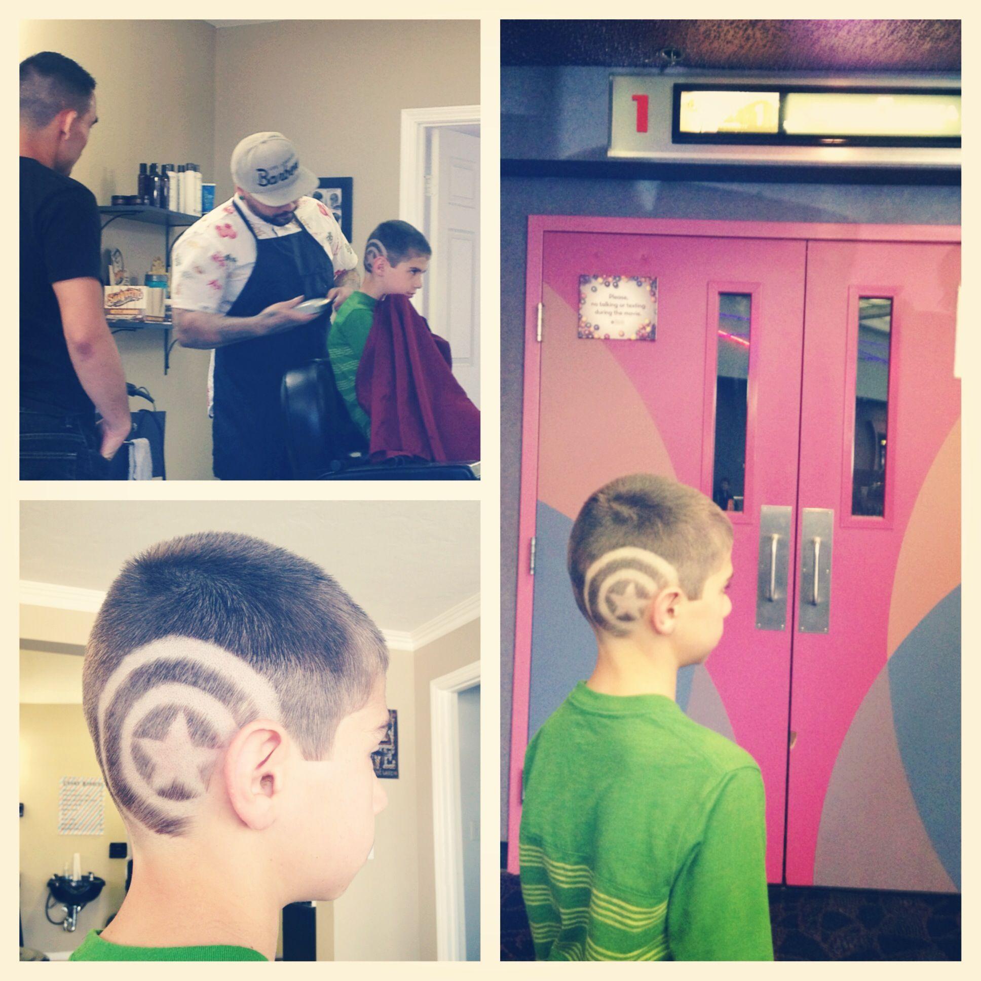 Captain America Hair Design On My Boy