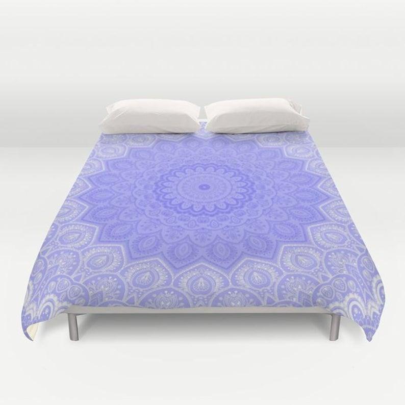 Duvet Cover Or Comforter Winter Lace Mandala No Insert Etsy Duvet Covers Decorative Duvet Cover Duvet