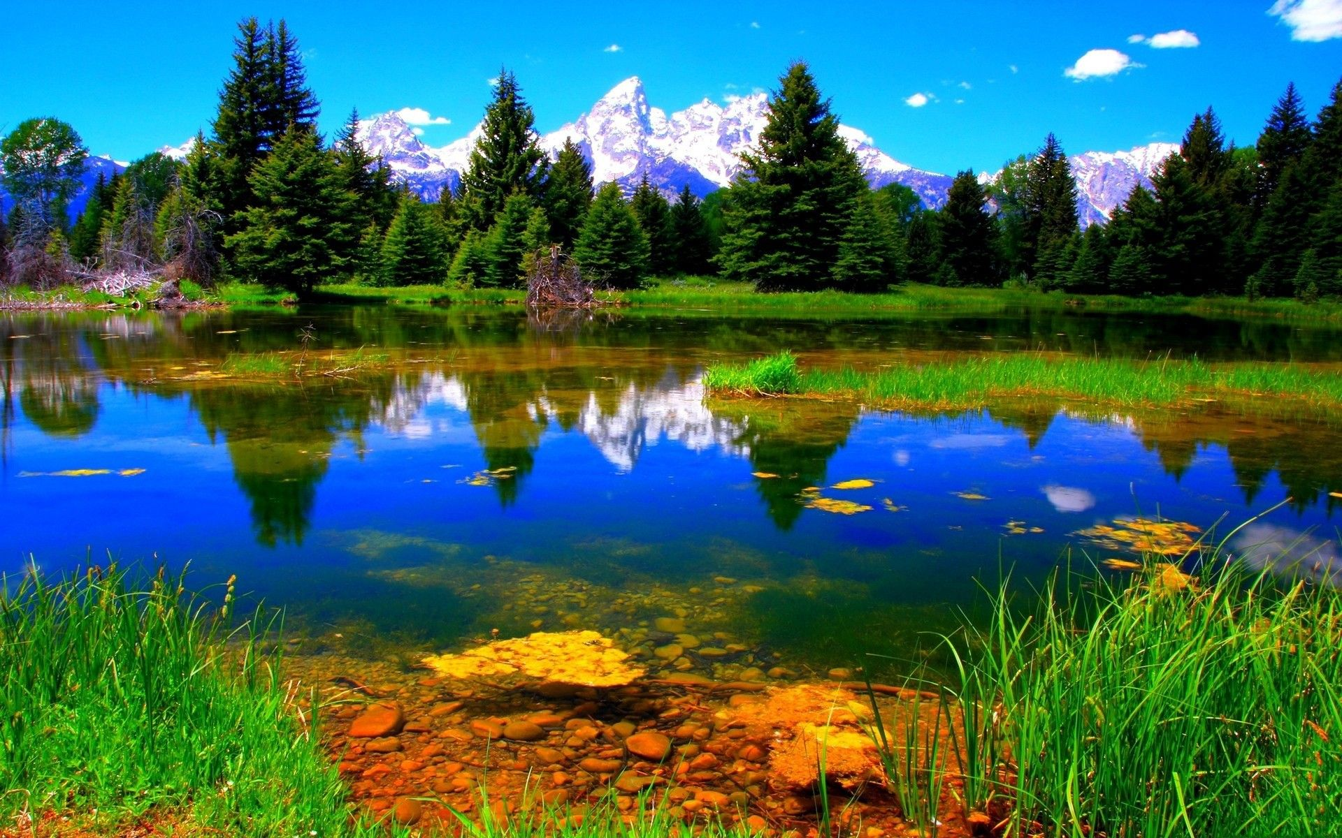 green , <b>mountains</b> , clouds, <b>landscapes</b>, nature , trees ...