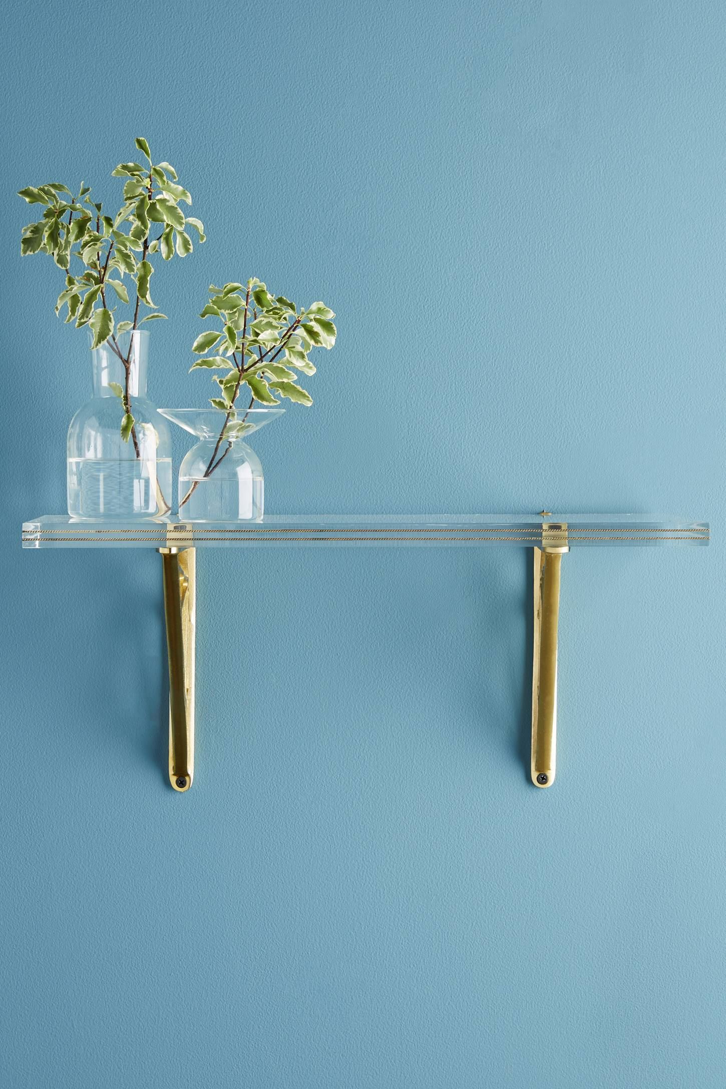 Brass Inlay Lucite Shelf | Front Hall + Stairwell | Pinterest ...