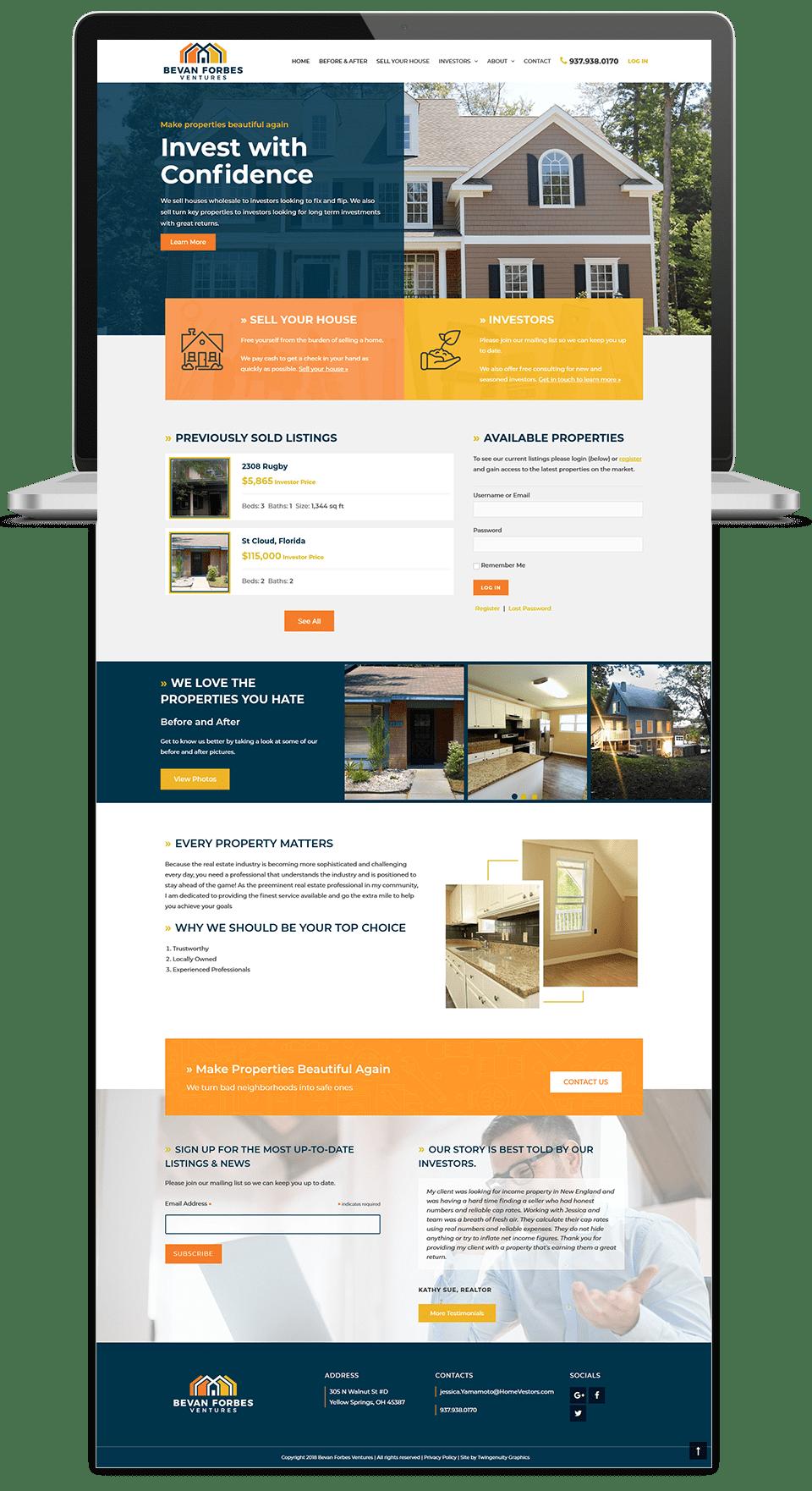 Bevan Forbes Ventures Wordpress Web Design Wordpress Web Design Web Layout Design Portfolio Web Design