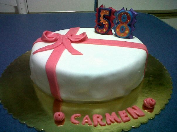 First cake made by fondant A simple round Red Velvet Cake
